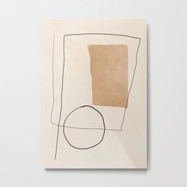Minimal Abstract Art 06 Metal Print