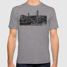 Golden Gate Bridge Mens Fitted Tee Tri-Grey SMALL