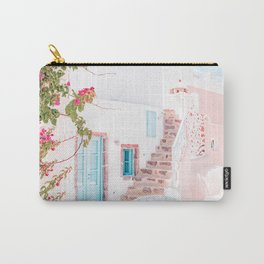 Santorini Greece Mamma Mia Pink House Travel Photography Carry-All Pouch