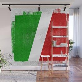 Italian Distressed Halftone Denim Flag Wall Mural