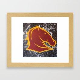 Broncos Supporter  Framed Art Print