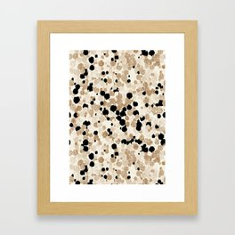 Pattern Dots Framed Art Print