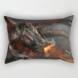 Dragon and Knight Rectangular Pillow
