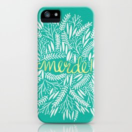 Pardon My French – Gold on Turquoise iPhone Case