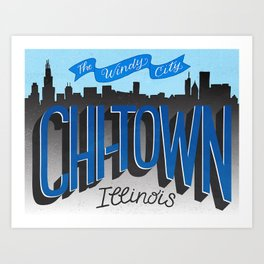 Chicago - The Windy City Art Print
