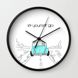 Let yourself go Wall Clock