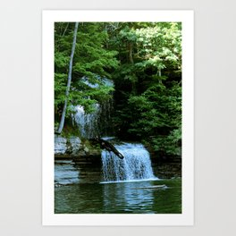 Over By the Waterfall Art Print