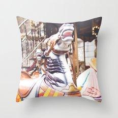 Wild horse race Throw Pillow