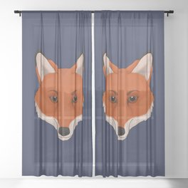 Red Fox Sheer Curtain