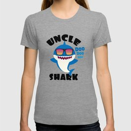 Uncle Shark design Gift - Cute Baby Shark Matching Family T-shirt
