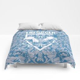 Enforcer Ice Hockey Player Skeleton Comforters
