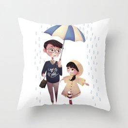 Please Don't Stop The Rain Throw Pillow