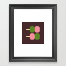 Japan Dango Sweet Framed Art Print