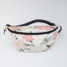 Spring Pink Cherry Blossoms Floral Fanny Pack