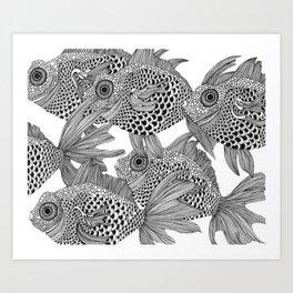 White Fish II Art Print