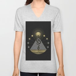 The Volcan by Night Unisex V-Neck