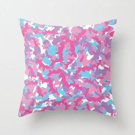 Unicorn's Breakfast [Camo Pattern] Throw Pillow