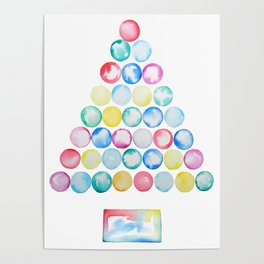 abstract Christmas tree Poster