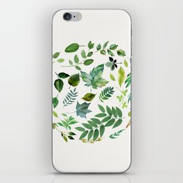 Circle of Leaves iPhone Skin