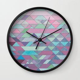 Triangle Pattern no.3 Violet Wall Clock