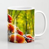 mushrooms Mugs featuring mushrooms by haroulita
