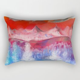 Dark Clouds Arise Rectangular Pillow