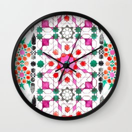 Pink Moorish Wall Clock