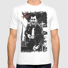 Greaser Johnny MEDIUM White Mens Fitted Tee