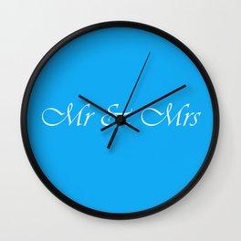 Mr & Mrs Monogram Wall Clock