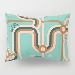 Metro Map. Pillow Sham