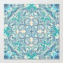 Gypsy Floral in Teal & Blue by micklyn