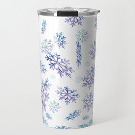Snowflakes falling Travel Mug