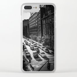 NYC traffic Clear iPhone Case