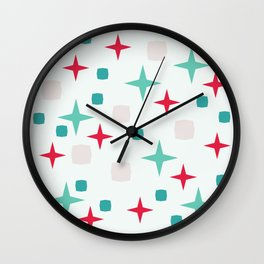 Retro pattern #society6 #decor #buyart #artprint Wall Clock
