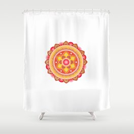 Cinnamon Flower Shower Curtain