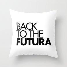 Back to the Futura Throw Pillow