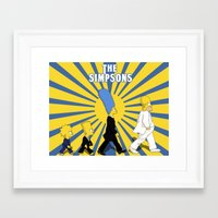 simpson Framed Art Prints featuring Simpson Sun by sgrunfo