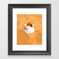the little crab Framed Art Print