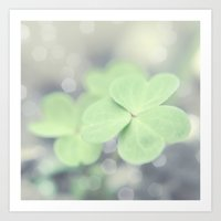 clover Art Prints featuring Clover by Scarlet