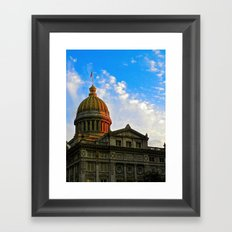 Sunset on the Courthouse Framed Art Print