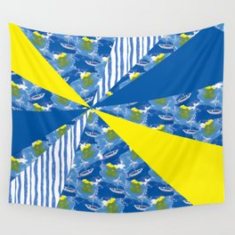 Sailing on Stormy Seas Wall Tapestry