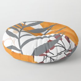 Colorful Red Leaves Floor Pillow