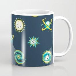 Pastel space pattern - dark Coffee Mug