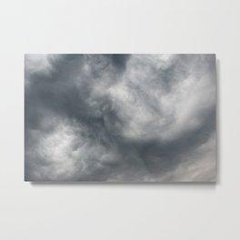 Gloomy billowy sky stormy weather Metal Print