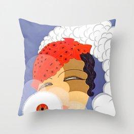 "Art Deco Design ""Powder Puff"" Throw Pillow"