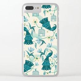 Aviary - Cream Clear iPhone Case