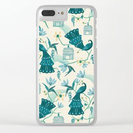 Aviary - Cream Clear iPhone Case
