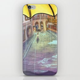 Rainy Swedish day in Stockholm's Old town  iPhone Skin