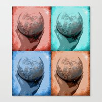 globe Canvas Prints featuring Globe by Aloke Design