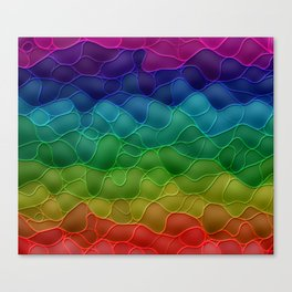 Rainbow abstraction Canvas Print